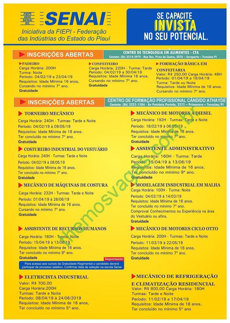 7f6ffdb6aa48b Senai oferta cursos para 26 áreas em Teresina – PI   Themos Vagas ...